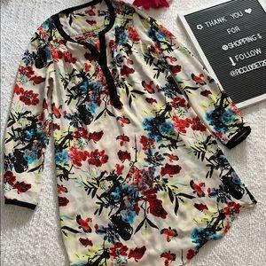 Sheer Floral dress-XS